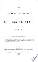 the latter day saints  millennial star volume xxv