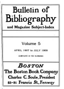 Bulletin of Bibliography and Magazine Subject index Book