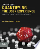 Quantifying The User Experience Book PDF