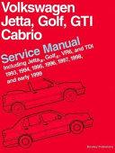 Volkswagen Jetta  Golf  Gti  Cabrio Service Manual