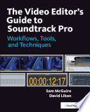 The Video Editor S Guide To Soundtrack Pro Book PDF