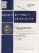 JOURNAL OF ECONOMICS LITERATURE