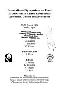 International Symposium on Plant Production in Closed Ecosystems Book