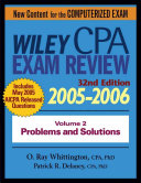 Wiley Cpa Examination Review 2005 2006 Problems And Solutions Book PDF