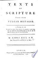 Texts of Scripture Freed from Vulgar Mistakes