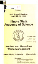 Program Annual Meeting Illinois State Academy Of Science