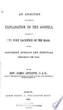 An analysis or familiar explanation of the gospels