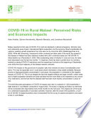 COVID 19 in rural Malawi  Perceived risks and economic impacts Book