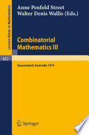 Combinatorial Mathematics III