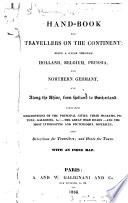 A Hand book for Travellers on the Continent