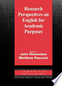 Research Perspectives on English for Academic Purposes Book