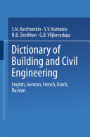 Pdf Dictionary of Building and Civil Engineering Telecharger