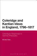Coleridge and Kantian Ideas in England  1796 1817