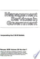 Management Services in Government