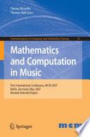 Mathematics and Computation in Music Book PDF
