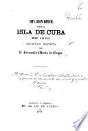 Situacion dificil de la isla de Cuba en 1870