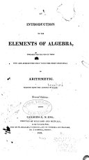 Pdf An Introduction to the Elements of Algebra