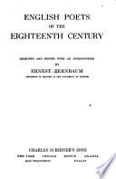 English Poets of the Eighteenth Century