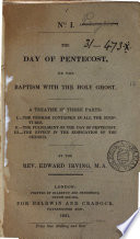 The Day of Pentecost  Or  The Baptism with the Holy Ghost