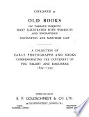 Old Books on Various Subjects, Many Illustrated with Woodcuts and Engravings, Navigation and Maritime Law