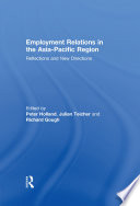 Employment Relations in the Asia Pacific Region