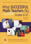 What Successful Math Teachers Do  Grades 6 12