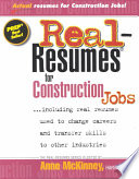Real-Resumes for Construction Jobs