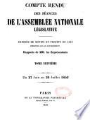Compte-rendu des séances de l'Assemblée nationale