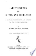 Auctioneers  Their Duties and Liabilities Book