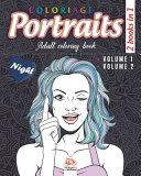 Coloring Portraits   Night   2 Books in 1 Book PDF