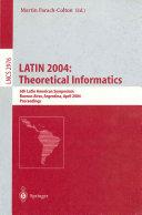 LATIN 2004  Theoretical Informatics