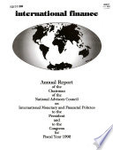 Annual Report of Activities of the National Advisory Council on International Monetary and Financial Policies