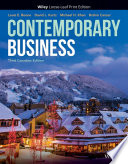"""Contemporary Business"" by Louis E. Boone, David L. Kurtz, Michael H. Khan, Brahm Canzer"