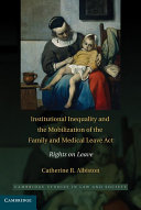 Institutional Inequality and the Mobilization of the Family and ...