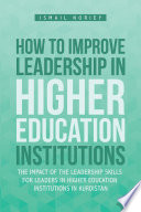 How to Improve Leadership in Higher Education Institutions