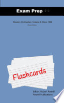 Exam Prep Flash Cards for Western Civilization: Volume II: ...