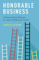 link to Honorable business : a framework for business in a just and humane society in the TCC library catalog