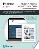 Excellence in Business Communication Pearson Etext Combo Access Card