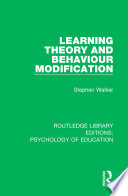 Learning Theory and Behaviour Modification