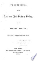 Proceedings of the American Anti slavery Society