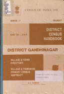 Census Of India 1991 A B District Census Handbook Village Town Directory Village Townwise Primary Census Abstract Ahmadabad