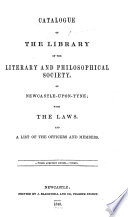 Catalogue of the Library of the Literary and Philosophical Society  of Newcastle upon Tyne Book