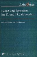Lesen und Schreiben im 17. und 18. Jahrhundert