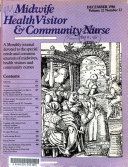 Midwife  Health Visitor   Community Nurse