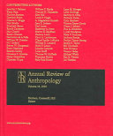 Annual Review of Anthropology 2005