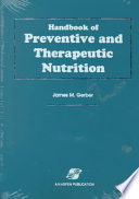 Handbook Of Preventive And Therapeutic Nutrition Book PDF