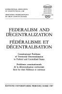 Federalism and decentralization