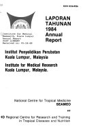 Annual Report Of The Institute For Medical Research