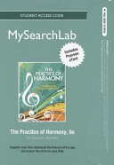 Practice of Harmony Mysearchlab With Pearson Etext Standalone Access Card