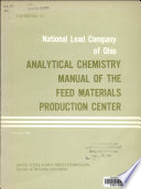 Analytical Chemistry Manual of the Feed Materials Production Center  Instrumental analytical section